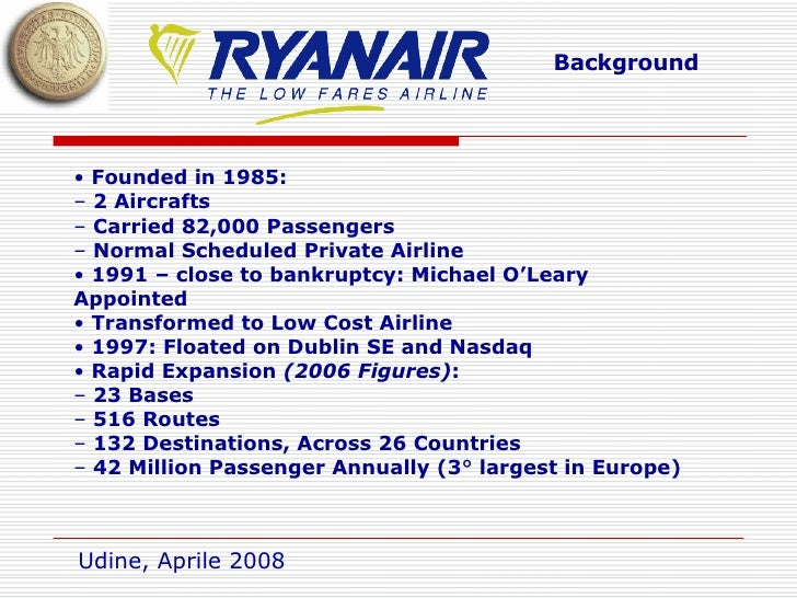 ryanair case study value chain Ryanair case study essay sample  in this case, ryanair develops successful multidimensional strategy to cover three competitive segments:  value chain.