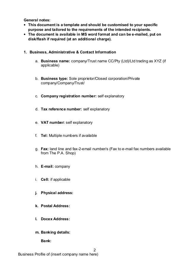 Business company-profile-templatedocdoc765[2] Slide 2