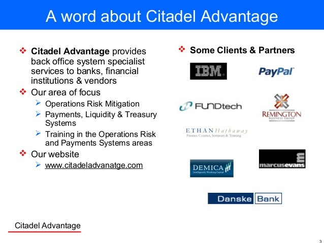 Business Continuity & Payment Systems Slide 3