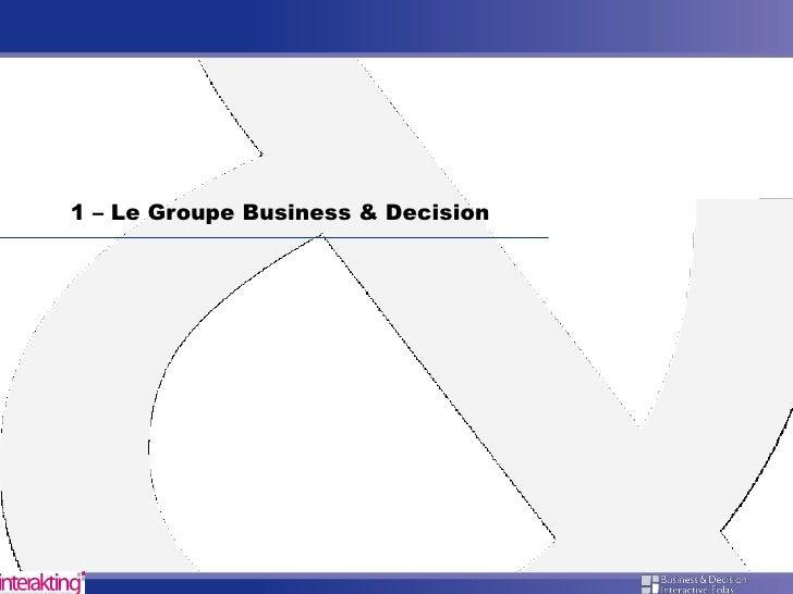 Business& Decision - PARIS DEVELOPPEMENT Slide 2