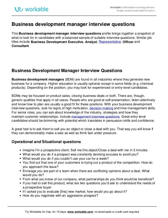 10+ business development job description templates – free sample.
