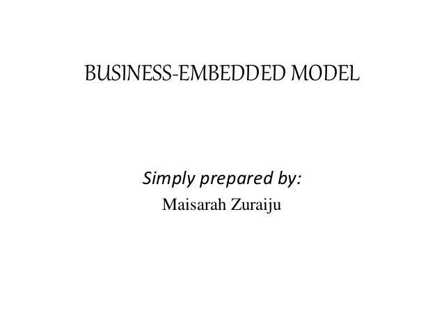 BUSINESS-EMBEDDED MODEL Simply prepared by: Maisarah Zuraiju