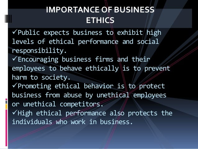 the importance of ethics and morality in a company A strong ethical culture within your business is important in safeguarding your assets employees who abide by your workplace ethics would be able to protect and respect your business's assets.