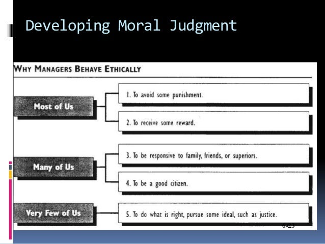 Developing Moral Judgment                            6-23