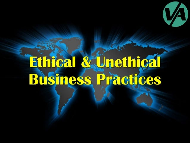 What is an unethical marketing practice?