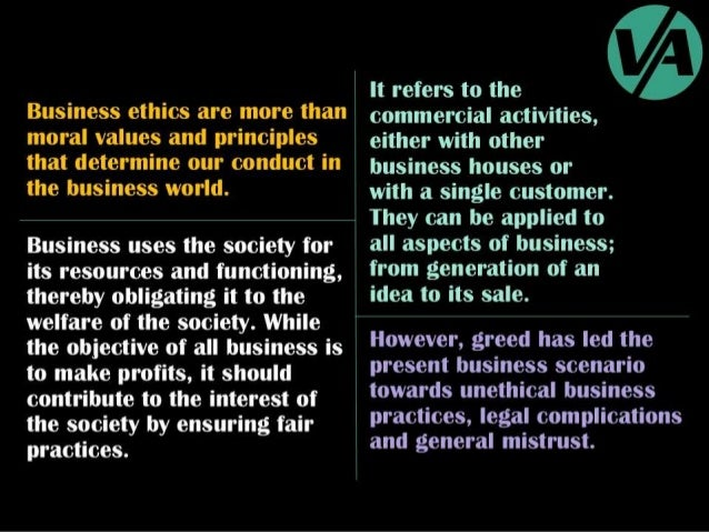Ethical & Unethical Business Practices Slide 3