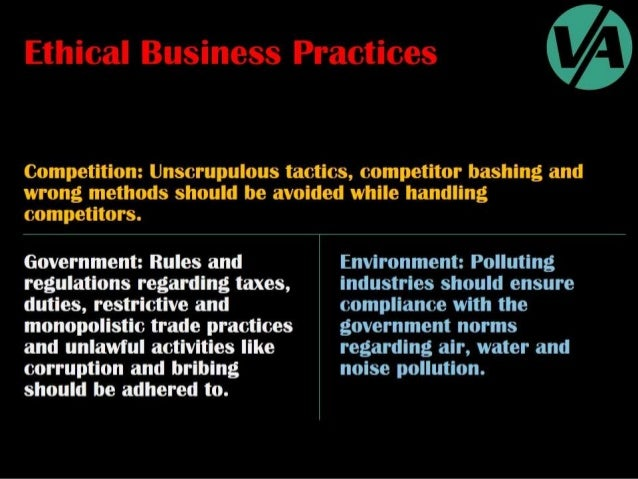 Ethical & Unethical Business Practices