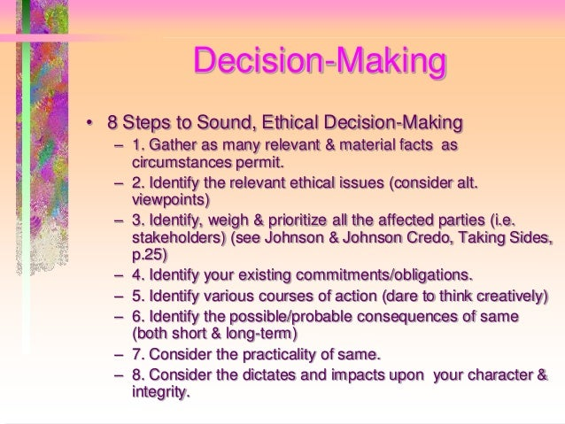 what are ways to maintain moral integrity in professional decision making In this way, counselors can avoid obstacles that deter ethical behavior and  develop a  recognize obstacles to ethical decision making  establishing and  maintaining professional and ethical standards in their counseling practice   we are involved in helping clients understand their moral rights and exercise  those rights.