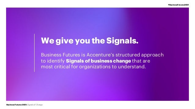 Signals of Business Change | Business Futures 2021 | Accenture Slide 3