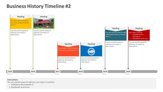 Business History Timeline  Powerpoint Template
