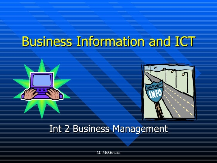 Business Information and ICT Int 2 Business Management