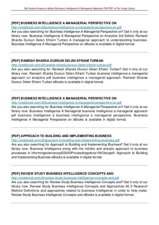 Management approaches pdf