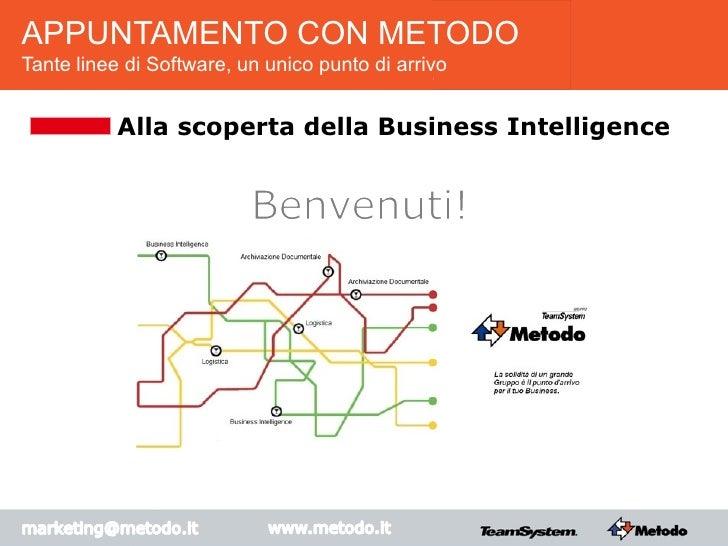 APPUNTAMENTO CON METODOTante linee di Software, un unico punto di arrivo           Alla scoperta della Business Intelligence