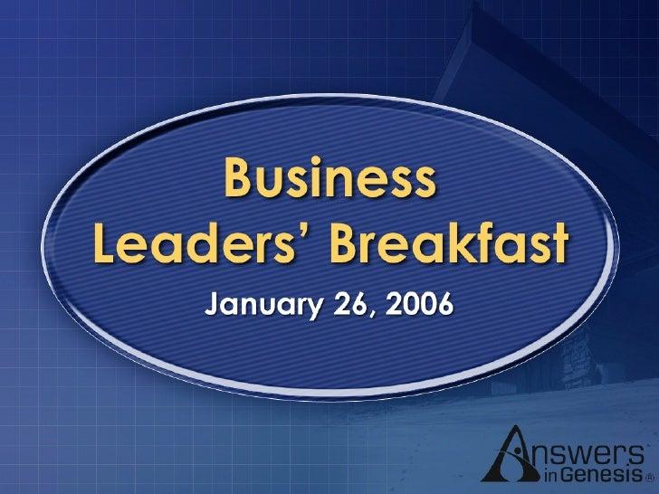 Business Leaders' Breakfast