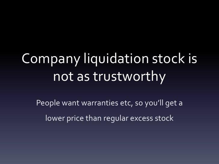 Business liquidation and company liquidation tips Slide 3