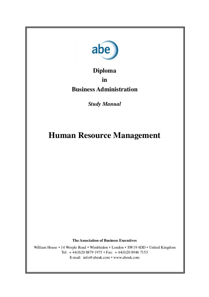 human resource management rh slideshare net Best Human Resources Manual Employee Manual