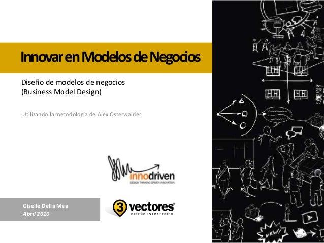 InnovarenModelosdeNegociosUtilizando la metodología de Alex OsterwalderDiseño de modelos de negocios(Business Model Design...