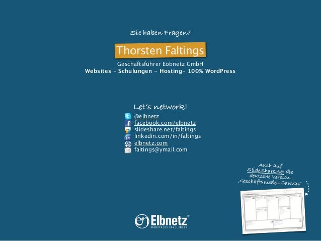 Sie haben Fragen?  Thorsten Faltings Geschäftsführer Eöbnetz GmbH Websites - Schulungen - Hosting- 100% WordPress  Let's n...