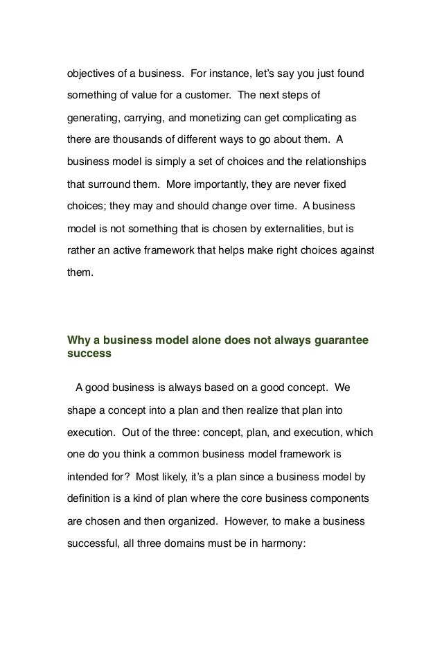 objectives of a business. For instance, let's say you just found something of value for a customer. The next steps of gene...