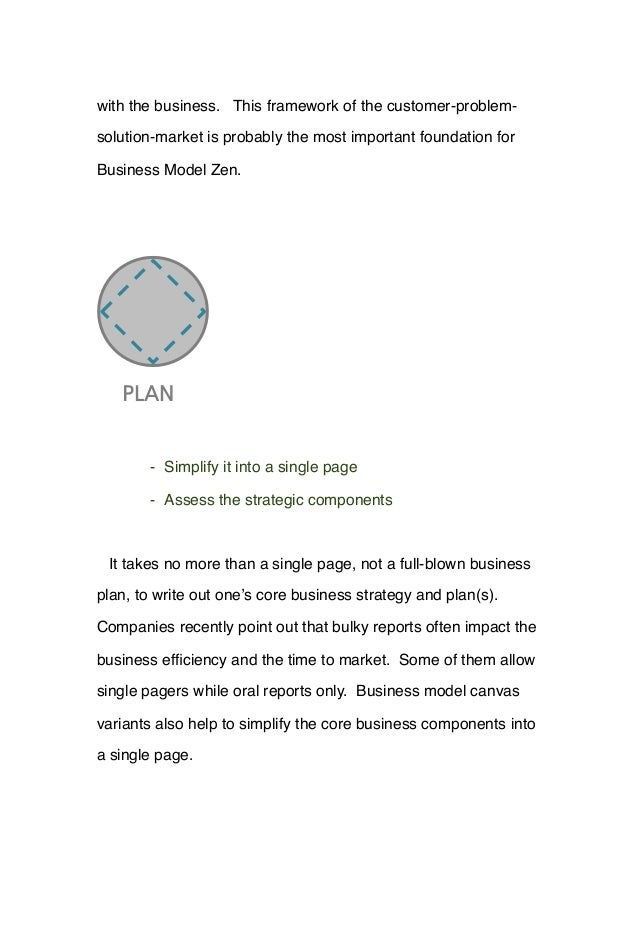 with the business. This framework of the customer-problem- solution-market is probably the most important foundation for B...