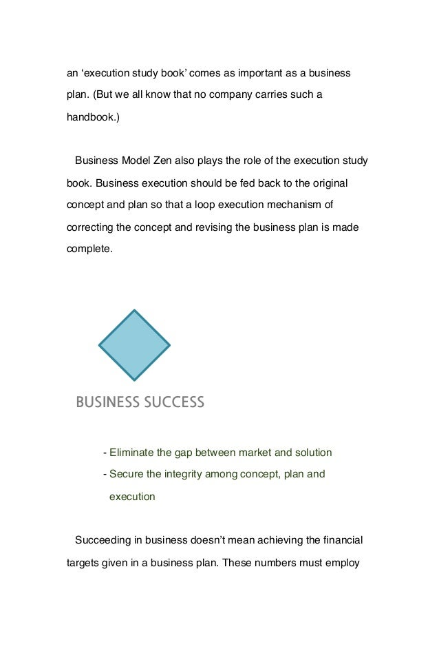 an 'execution study book' comes as important as a business plan. (But we all know that no company carries such a handbook....