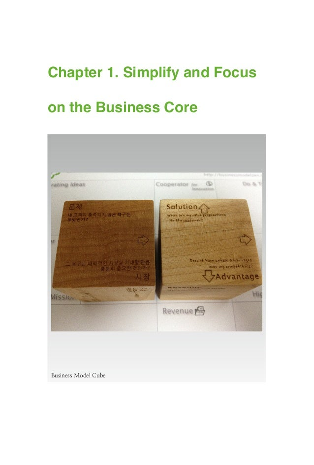 Chapter 1. Simplify and Focus on the Business Core Business Model Cube