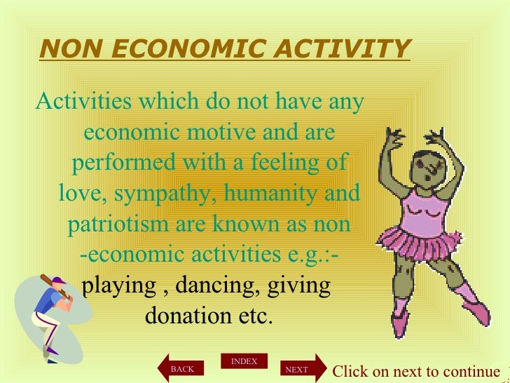 Difference between Economic and Non-Economic Activities