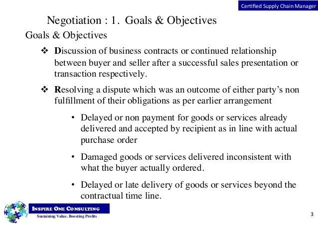 Supply chain negotiation