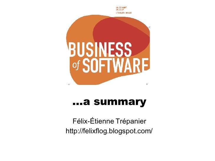 … a summary Félix-Étienne Trépanier http://felixflog.blogspot.com/