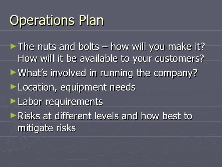 Business plan operations plan accmission