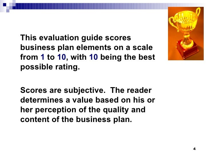 business plan evaluation