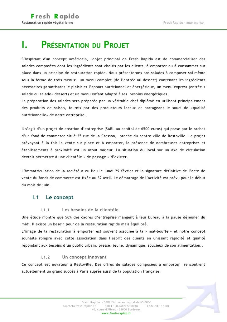 Exemple Business Plan Restauration Rapide Pdf - Le ...