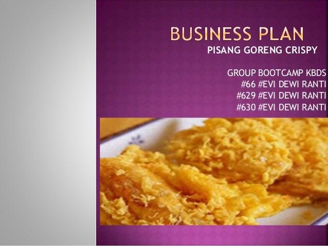 Business Plan Pisang Goreng Crispy
