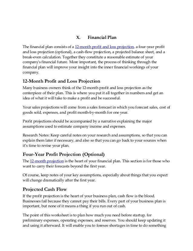 Superior 24. X. Financial PlanThe Financial Plan ...