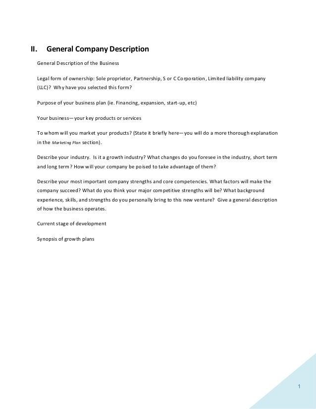 Business Plantemplate - General business plan template