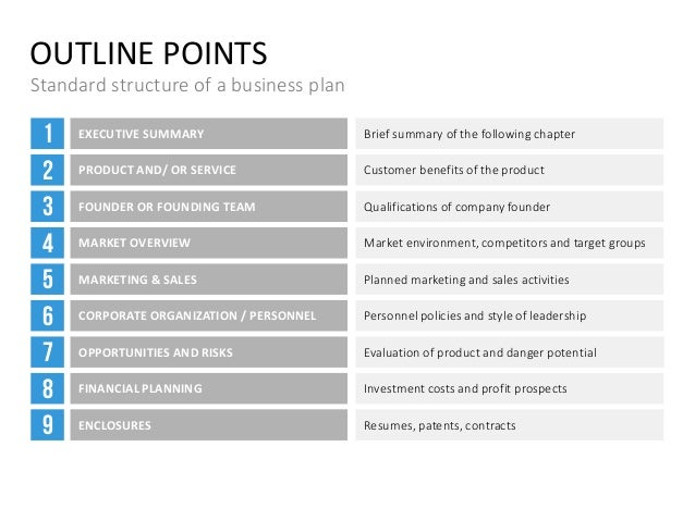 Business Plan Template - Standard business plan template