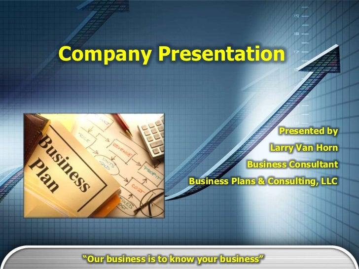 Company Presentation                                             Presented by                                            L...
