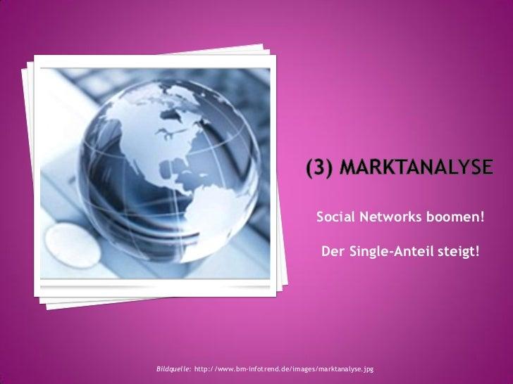 Social Networks boomen!                                               Der Single-Anteil steigt!Bildquelle: http://www.bm-i...