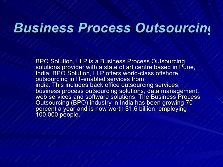 Business Process Outsourcing - BPO