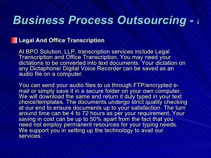business process outsourcing bpo india Business process outsourcing  experience outsourcing to a bpo for my business problemio  find links to lists of bpo companies throughout india, asia,.
