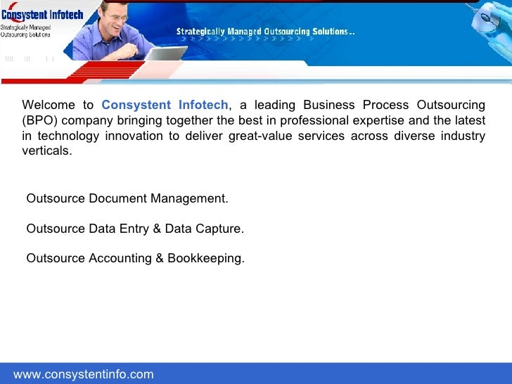 Welcome to  Consystent Infotech , a leading Business Process Outsourcing (BPO) company bringing together the best in profe...