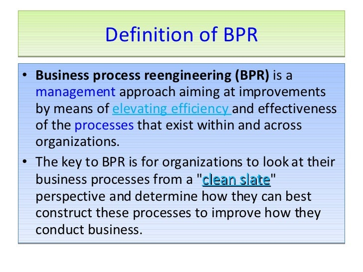 business process reengineering thesis