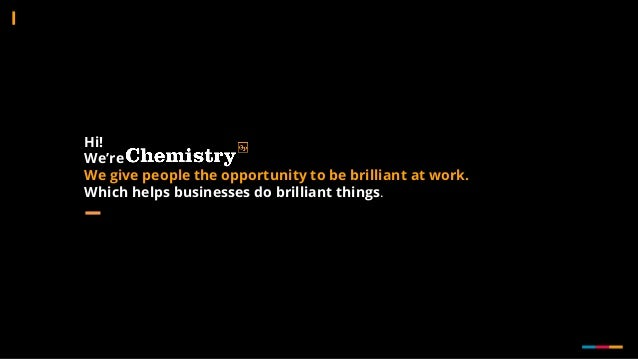 Hi! We're We give people the opportunity to be brilliant at work. Which helps businesses do brilliant things.