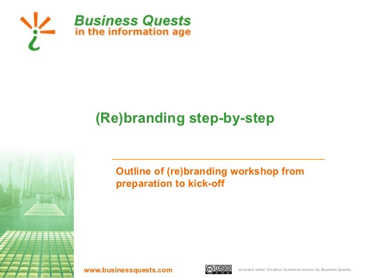 (Re)branding step-by-step Outline of (re)branding workshop from preparation to kick-off