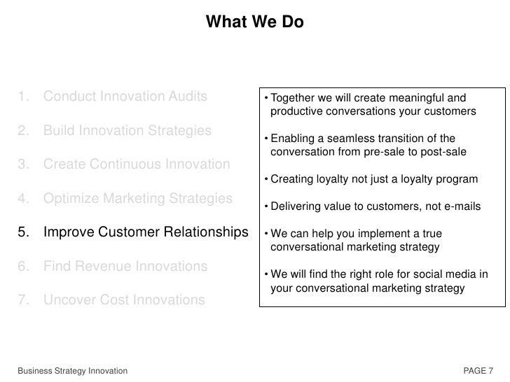 Is funding for idea development set aside?</li></ul>Business Strategy Innovation<br />