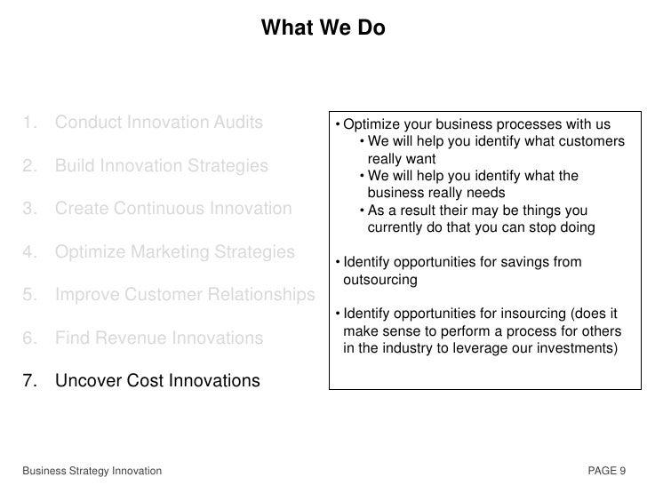 Define Innovation Goals