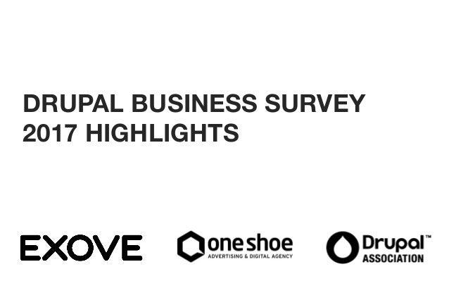 2 DRUPAL BUSINESS SURVEY 2017 HIGHLIGHTS