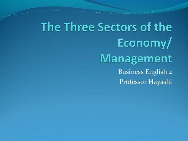 Business English 2 Professor Hayashi