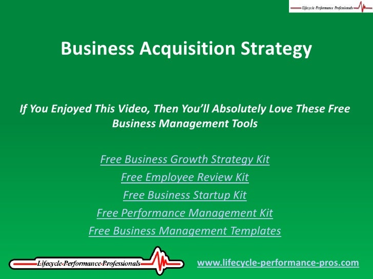 Video: Business Acquisition Strategy