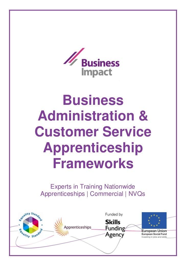 BusinessAdministration &Customer Service Apprenticeship  Frameworks   Experts in Training NationwideApprenticeships | Comm...